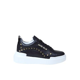 Marc Ellis Mesnk120black Women's Black Leather Sneakers