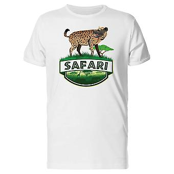 Safari Emblem With A Hyena Tee Men's -Image by Shutterstock