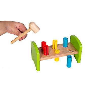 Classic World - Wooden Hammer and Peg Bench Early Development Toy for Toddlers, Kids