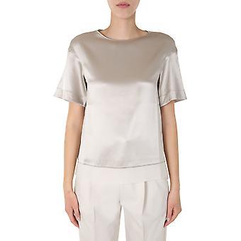 Fabiana Filippi Tpd270w708a8958147 Women's Beige Silk T-shirt