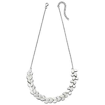 Elements Silver Overlapping Leaf Necklace - Silver