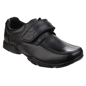 Hush puppies men's freddy 2 touch fastening  school shoe black 25345