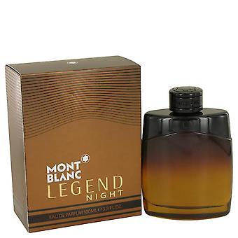 Montblanc Legend Night Eau De Parfum Spray By Mont Blanc 3.3 oz Eau De Parfum Spray