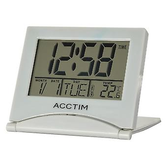 Acctim Mini Flip II Travel LCD Alarm Clock