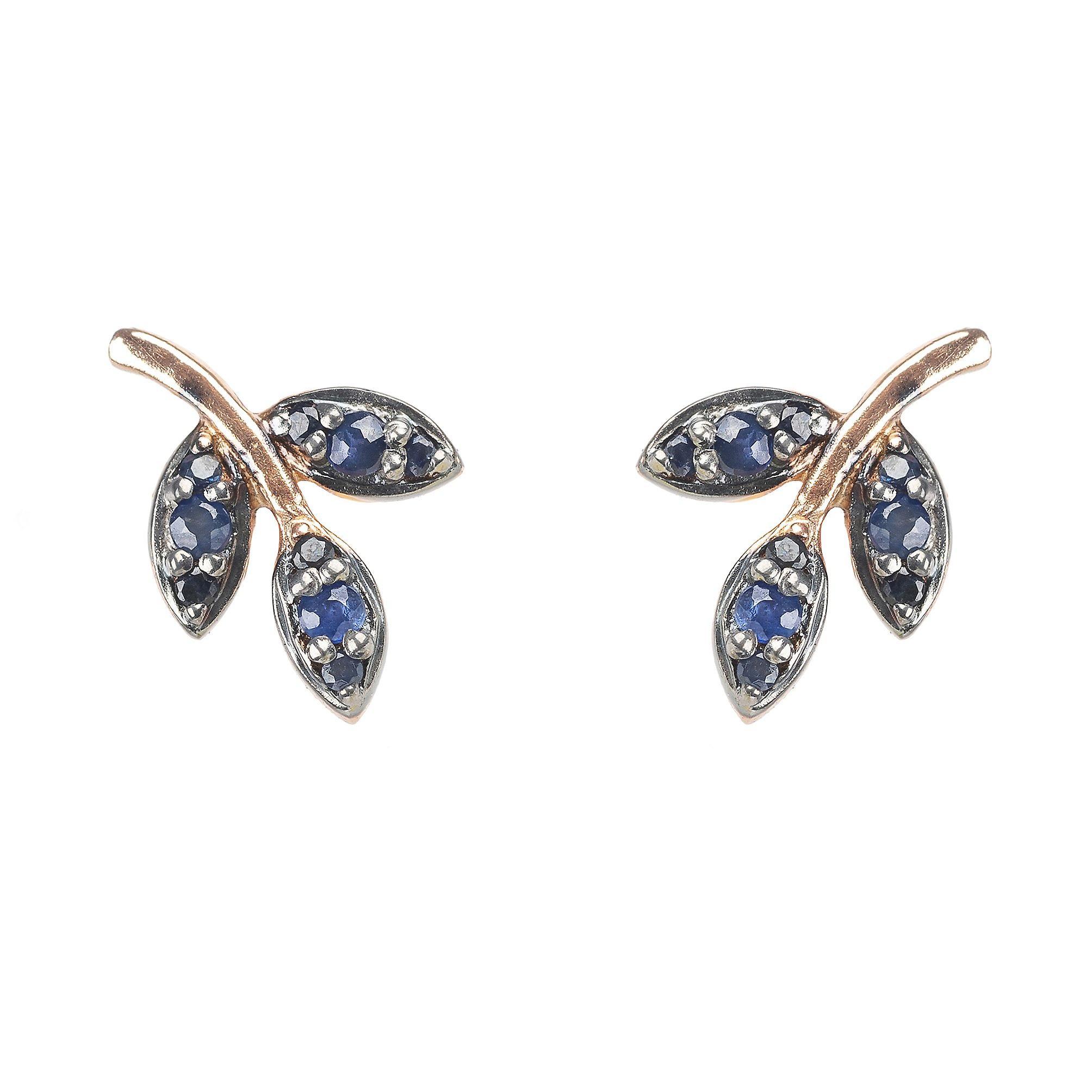 sapphire gem stone earrings {september} birth stone