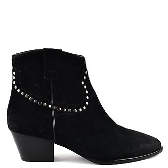 Ash HOUSTON BIS Boots Brushed Black Suede
