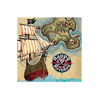 18 Buried Treasure 2-ply Paper Party Napkins for Kids Pirate Parties