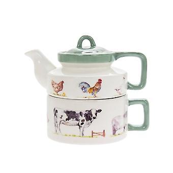Land Leben Bauernhof Tee für einen