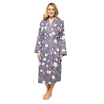 Cyberjammies Serena 4555 Femeiăs Lilac Mix Floral Print Long Robe