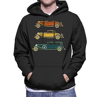 Lørdag aften Post Classic Biler Men's Hætteklædte Sweatshirt