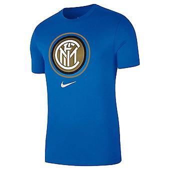 2020-2021 Inter Milan Crest Tee (Blå)