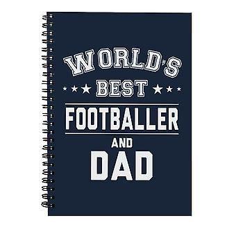 Verdens beste fotballspiller og pappa Spiral Notebook