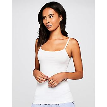 Iris & Lilly Women's Cotton Camisole, Pack of 2, x White, x Soft Pink, EU ...