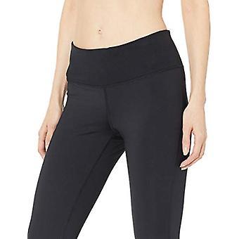 Essentials Women's Studio Sculpt Mid-Rise Capri Yoga Legging, Black, Large