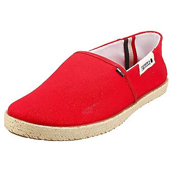 Tommy Jeans Summer Shoe Mens Slip On Shoes in Red