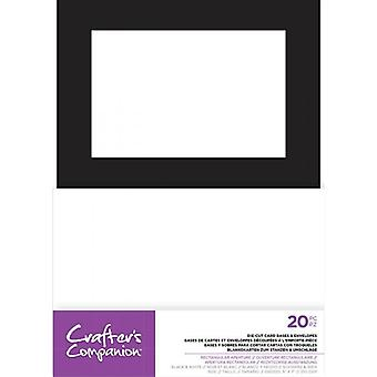 Crafter's Companion Rectangular Aperture 5x7 Inch Die-Cut Card Bases & Envelopes