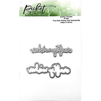 Picket Fence Studios Crafty Wishes Foil and Cutting Die