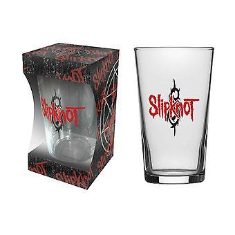 Slipknot Pint Glass Band nonagram Logo 9 Point Star new Official Boxed