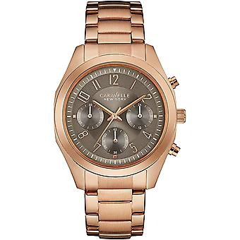Caravelle Watch 44L198 - Plated Stainless Steel Ladies Quartz Chronograph