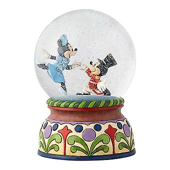 Disney Traditions Mickey & Minnie Nutcracker Musical A Magical Moment Snow Globe By Jim Shore