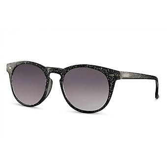 Sunglasses Unisex round full-edged cat. 3 black/black