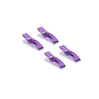 100PCS Multi-purpose Plast Tøj Hanger Clips Lilla