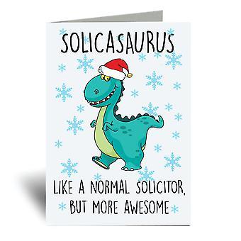 Solicasaurus A6 Christmas Card