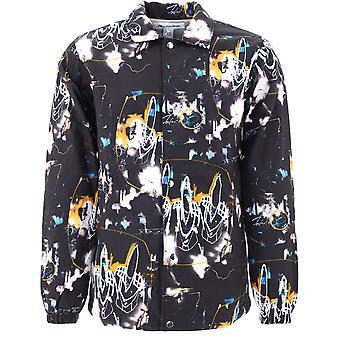Comme Des Garçons Shirt W28172 Men's Black Cotton Outerwear Jacket