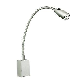 Cama Leds-C4 - LED 1 luz interior ajustable pared cama lámpara de lectura gris