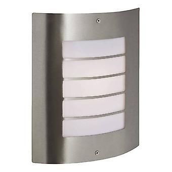 Firstlight Prince - 1 Light Wall Light Inox Steel IP44, E27