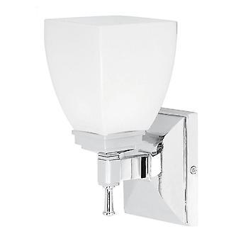 1 Lekka łazienka Światło ścienne Chrom IP44, G9