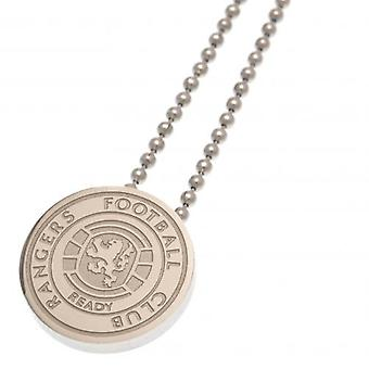 Rangers Stainless Steel Pendant & Chain