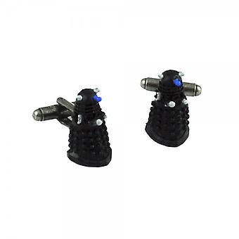 Krawatten Planet Doctor Who 3d Dalek schwarz Gummi Neuheit Manschettenknöpfe