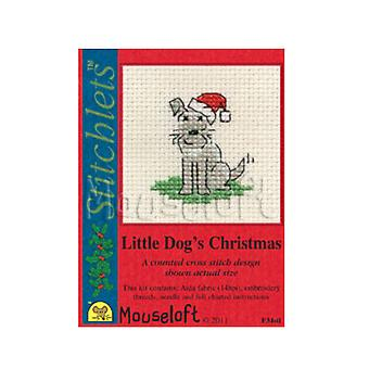 Little Dog - Stitchlets Small Christmas Counted Cross Stitch Card Making Kit