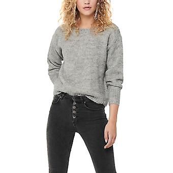 Only Women's Jazzie Solid Colored Knitted Sweater