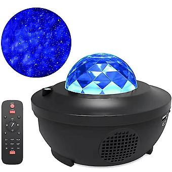 5v/2000ma Starry Galaxy Led Projection Bluetooth Night Lamp With Remote Control (110-220v)