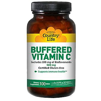 Country Life Buffered Vitamin C with Bioflavonoids, 500 MG, 100 Tabs