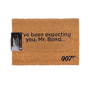 James Bond I've Been Expecting You Mr Bond Brown Door Mat Home Decor
