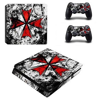 Joker Style Vinyl Sticker For Console And 2 Controllers Of Sony Playstation 4