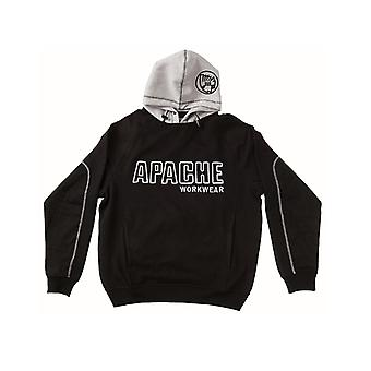 Apache Hooded Sweatshirt Black / Grey - M (42in) APAHOODBGM