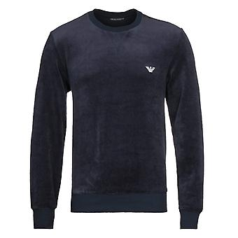 Emporio Armani Loungewear Chenille Navy Crew Tracksuit