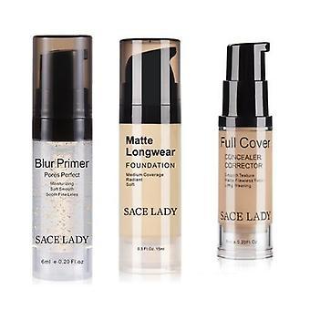 Professional Makeup Set-face Primer, Concealer And Foundation