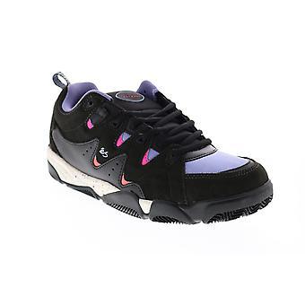 ES Symbol  Mens Black Suede Skate Inspired Sneakers Shoes