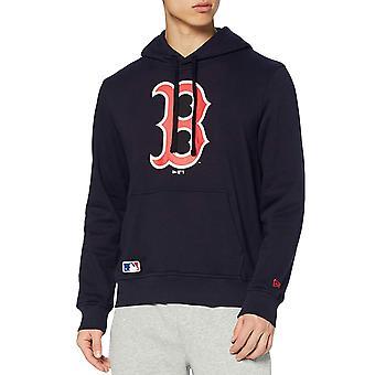 ニューエラ ボストン レッドソックス MLB チーム プルオーバー フーディ スウェットシャツ フーディ - ネイビー