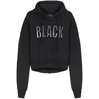NU Black Cropped Hoodie