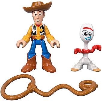 2-Pack Disney Pixar Toy Story Woody & Forky Poseable figuras de acción