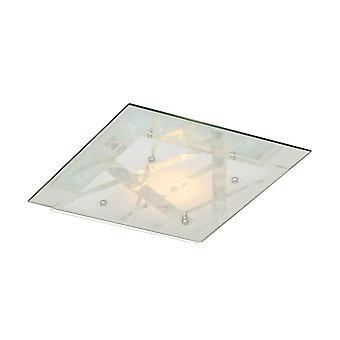Italux Mertu - Klassische LED Flush Deckenleuchte Weiß, Warm weiß 3000K 670lm