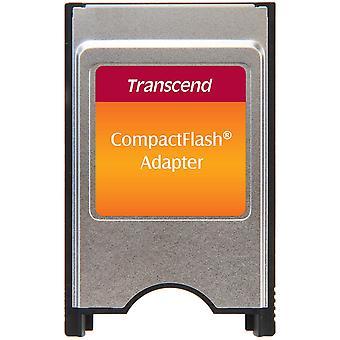 Υπερβάστε τον προσαρμοστή aa pcmcia ts0mcf2pc για την κάρτα compactflash - ασημένιος/μαύρος