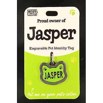 Wags & Whiskers Pet Cat Identity Tag - Jasper