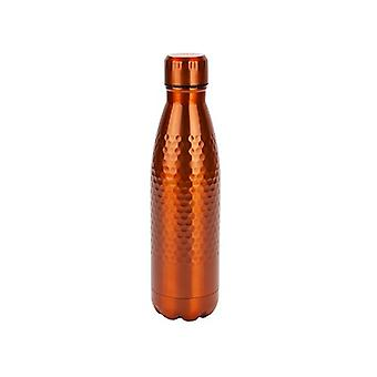 Summit B&Co 500ml Honeycomb Botella Flask Cobre